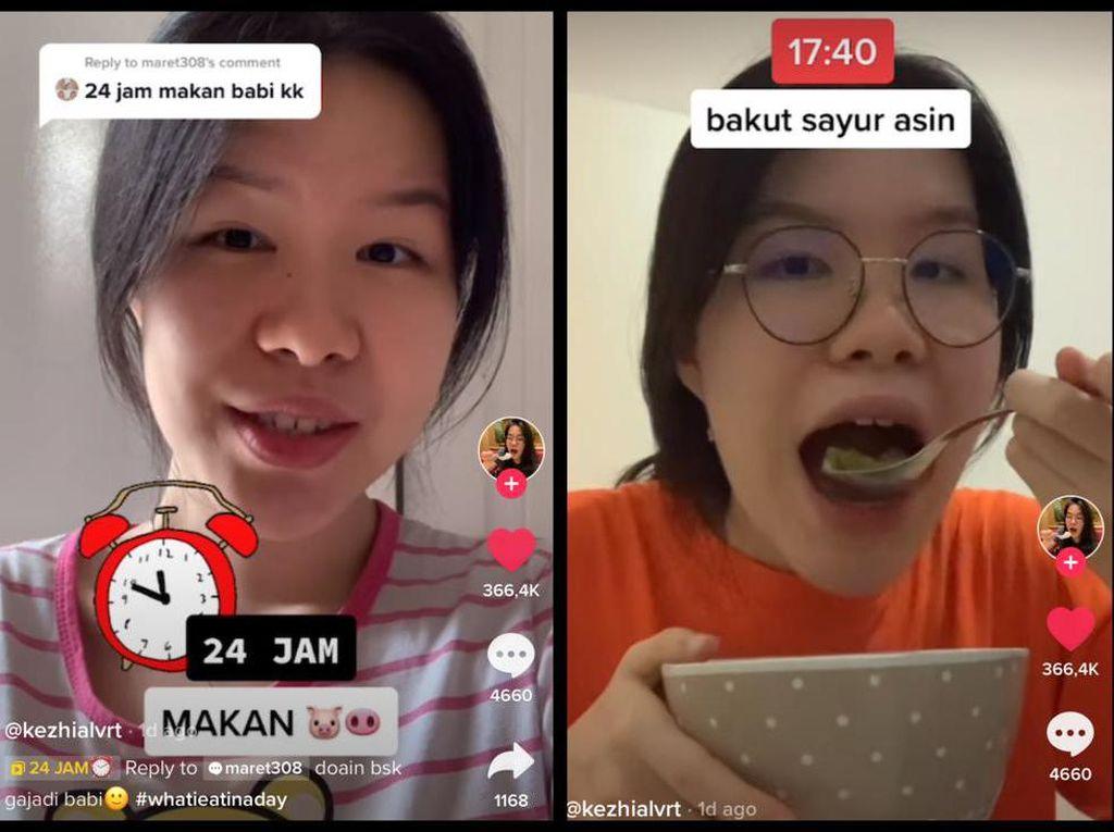 Netizen Ini Jawab Tantangan 24 Jam Makan Babi, Ini Menu Favoritnya