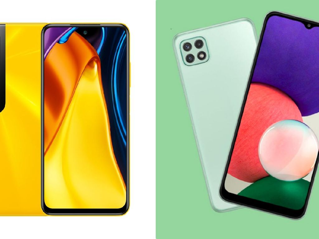 Perbandingan Poco M3 Pro 5G dan Samsung Galaxy A22 5G, Menarik Mana?