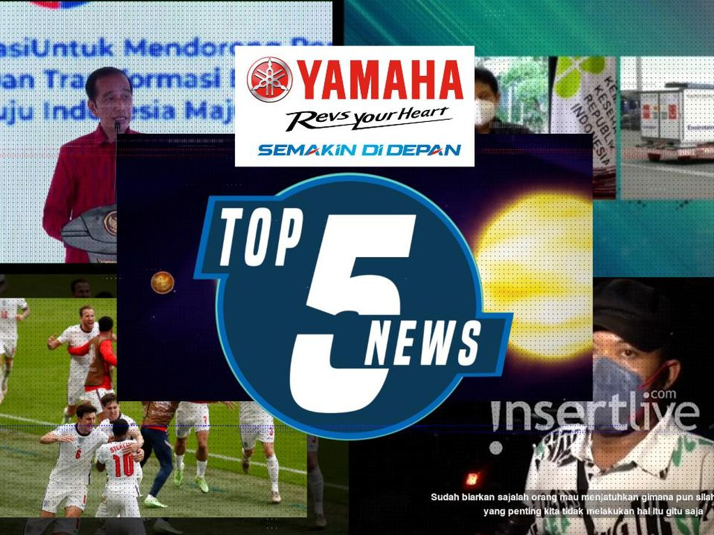 Jokowi Finalisasi Skema PPKM Darurat, Inggris Bungkam Jerman 2-0