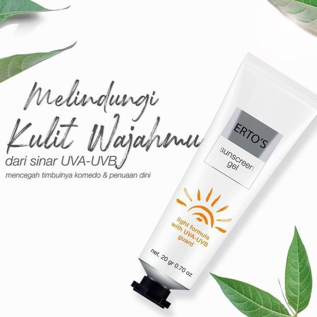 Erto's Sunscreen Gel Protection/instagram.com/ertos