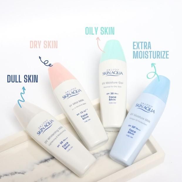 Sunscreen Skin Aqua all variant/instagram.com/skinaquaid