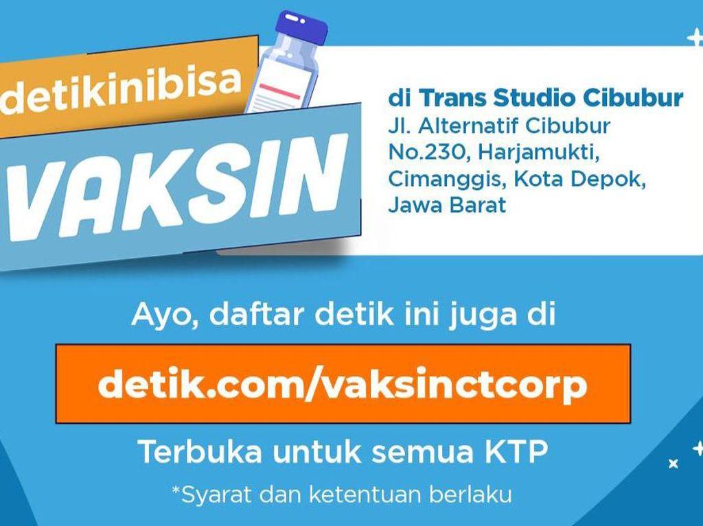 Masih Ada Slot Vaksin COVID di Trans Studio Mall Cibubur, Domisili Bebas!