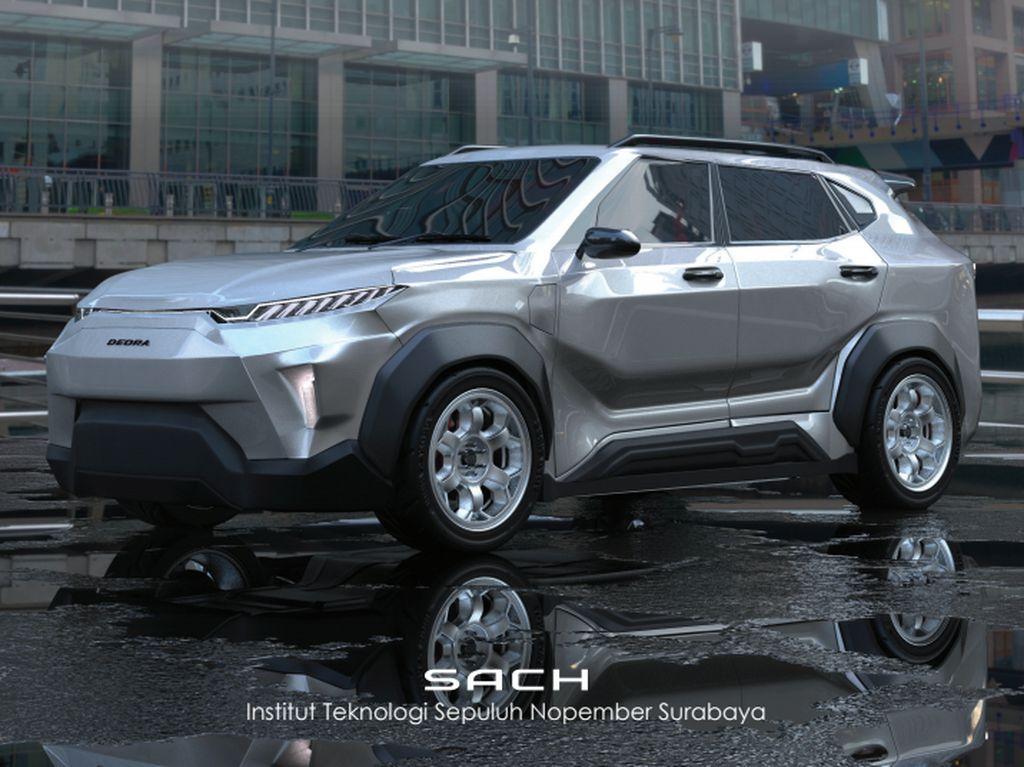 Mahasiswa ITS Pamer Desain Mobil Listrik i-Deora, SUV Kompak yang Keren dan Modern