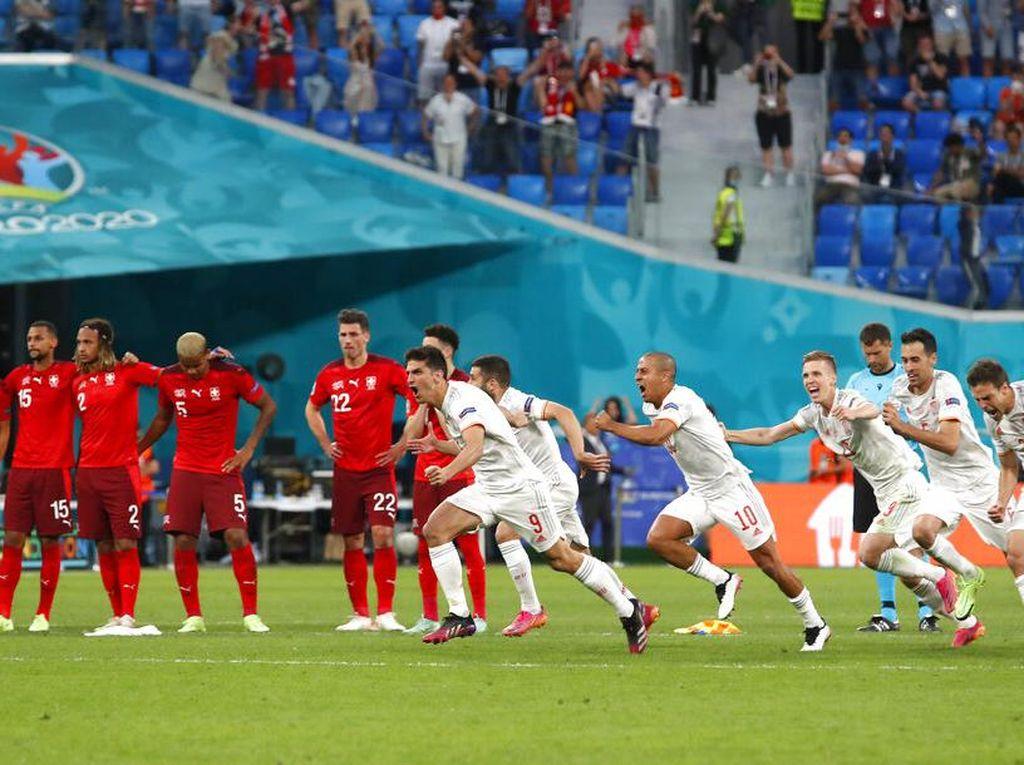 Hasil Swiss Vs Spanyol: Matador ke Semifinal Euro 2020 via Adu Penalti