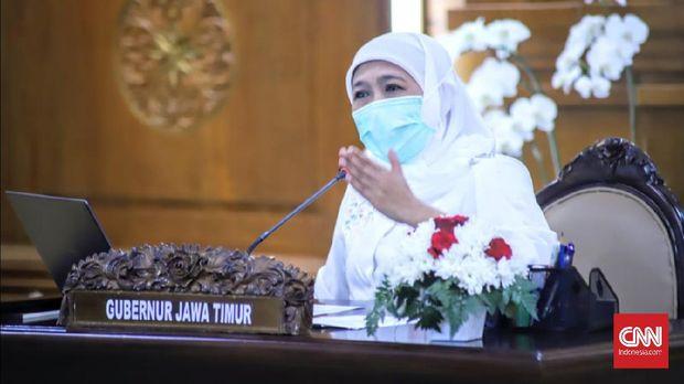 Gubernur Jawa Timur (Jatim), Khofifah Indar Parawansa mengajak warganya menggelar doa bersama secara virtual selama pelaksanaan Pemberlakuan Pembatasan Kegiatan Masyarakat (PPKM), 3 sampai 20 Juli 2021
