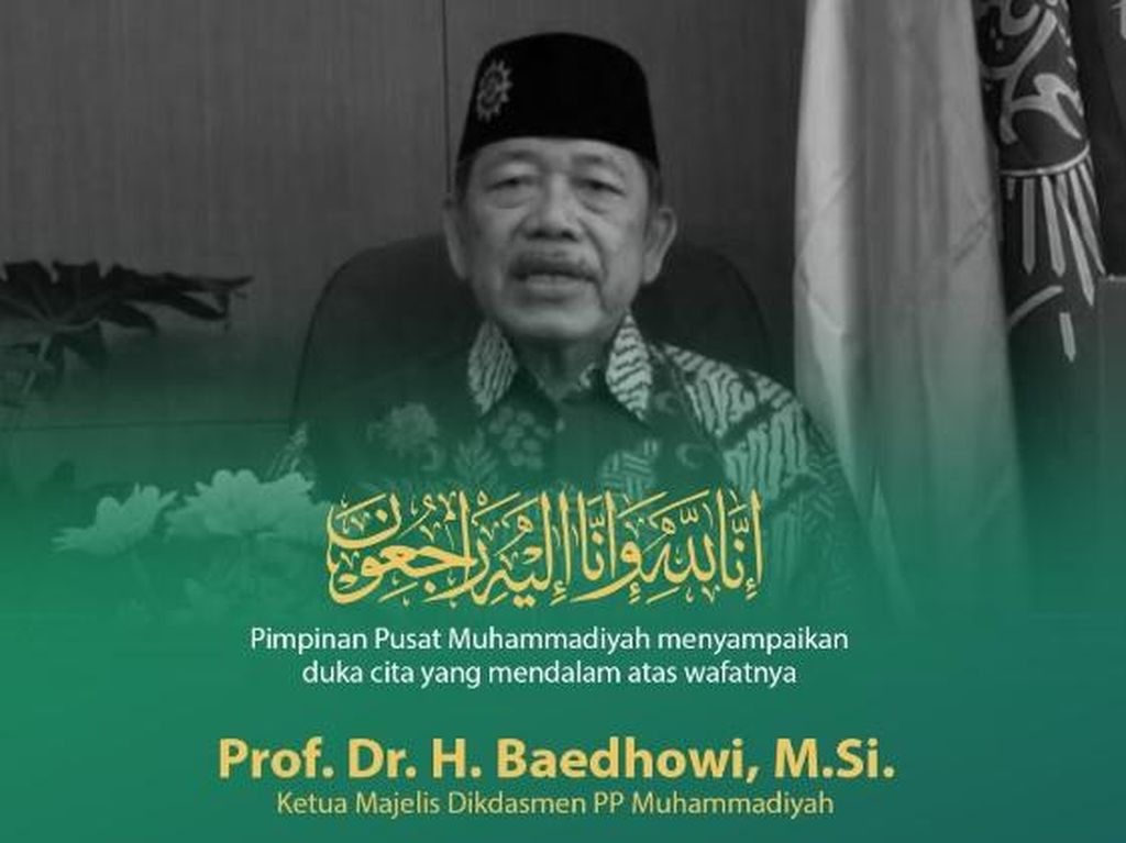 Tokoh Pendidikan Prof Baedhowi Tutup Usia, Berikut Peninggalannya