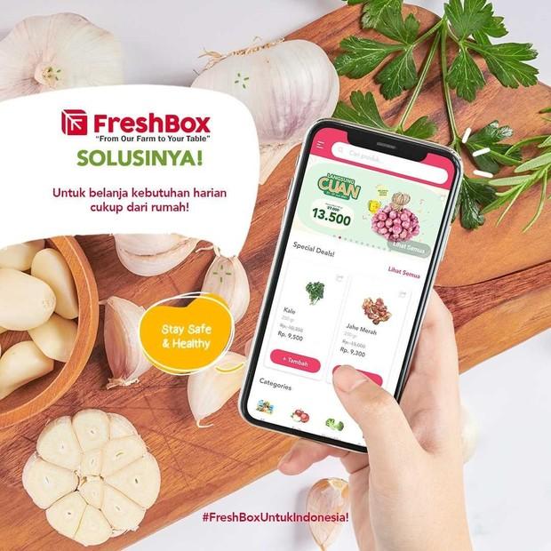 Aplikasi belanja online Fresh Box