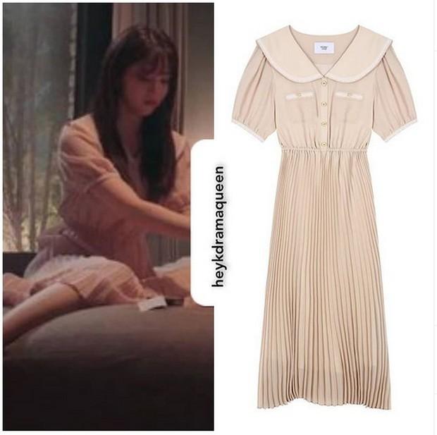 dress cantik rumahan ala Yoo Na Bi