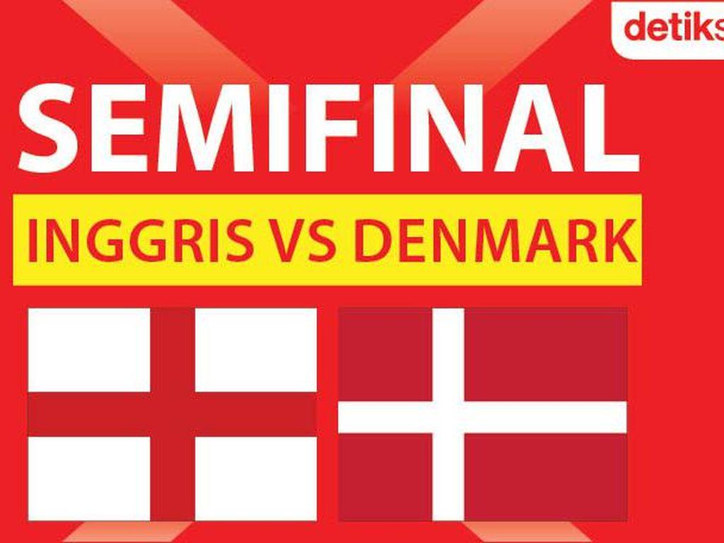 Semifinal Euro 2020 Inggris Vs Denmark: detikers Jagokan Siapa?