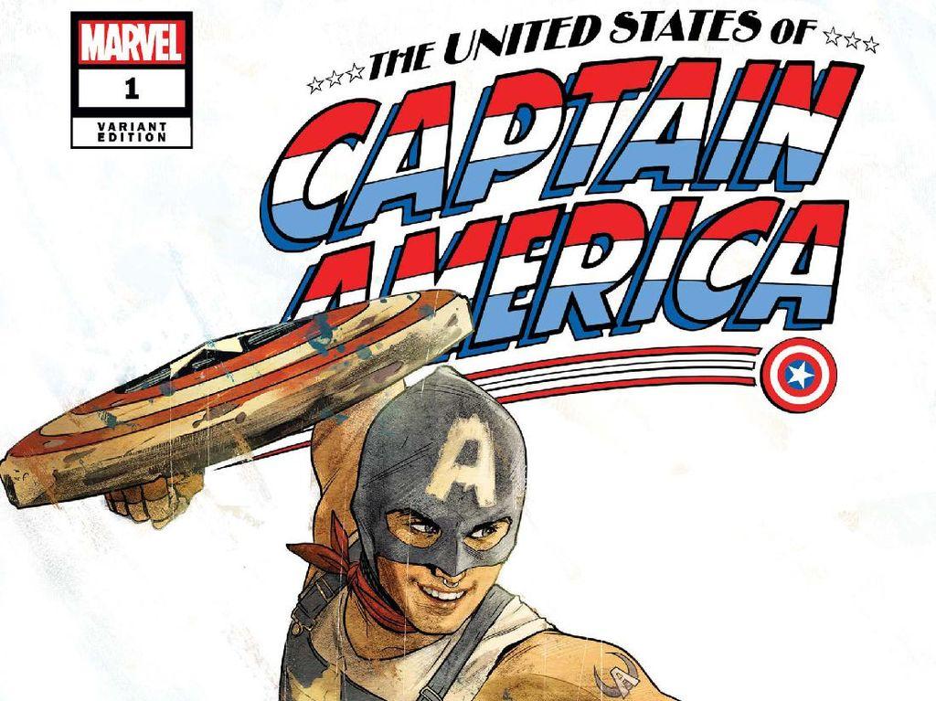 Komik Baru Captain America Dirilis, Steve Rogers Ejek Amerika