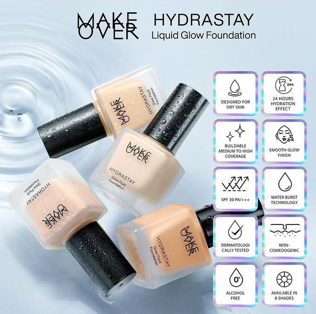 Make Over Hydrastay Glow Fluid Foundation