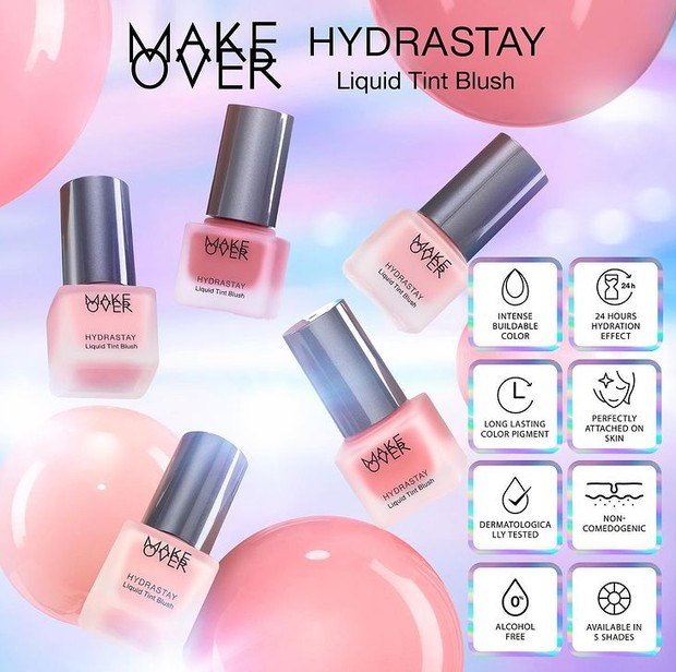 Make Over Hydrastay Liquid Tint Blush