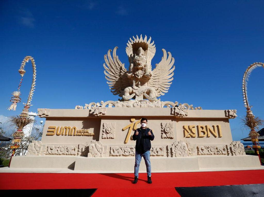HUT Ke-75, BNI Gandeng Seniman Bali Buat Replika Patung Garuda Wisnu