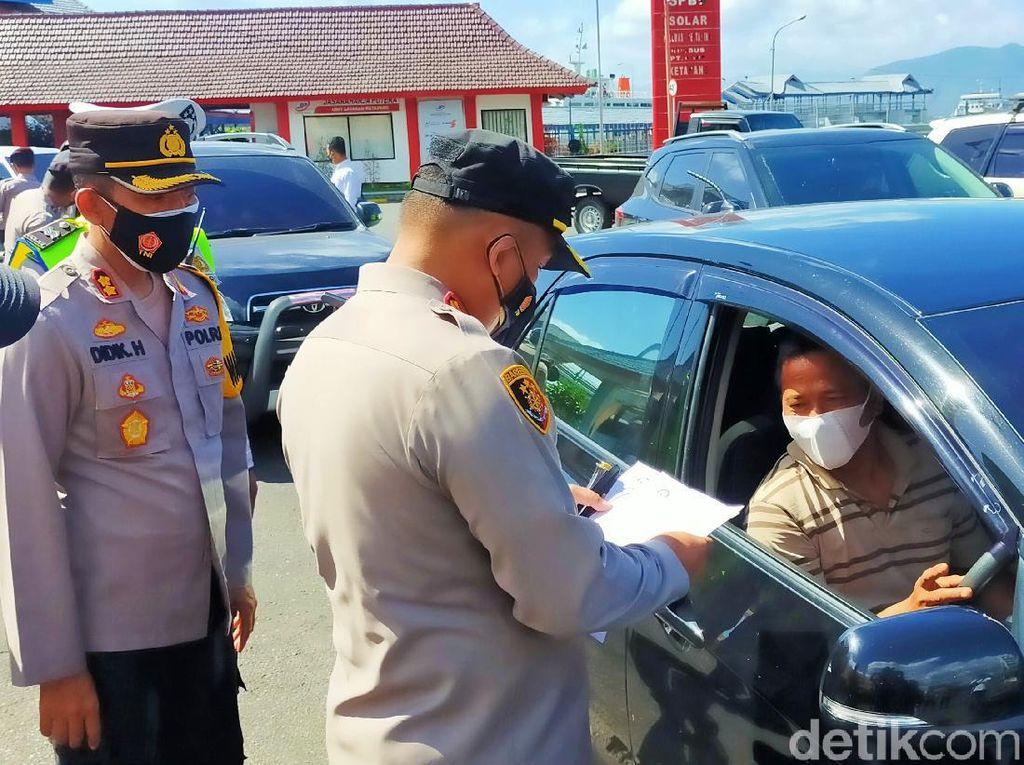 PPKM Darurat di Pelabuhan Ketapang, Putar Balik Jika Syarat Tak Lengkap