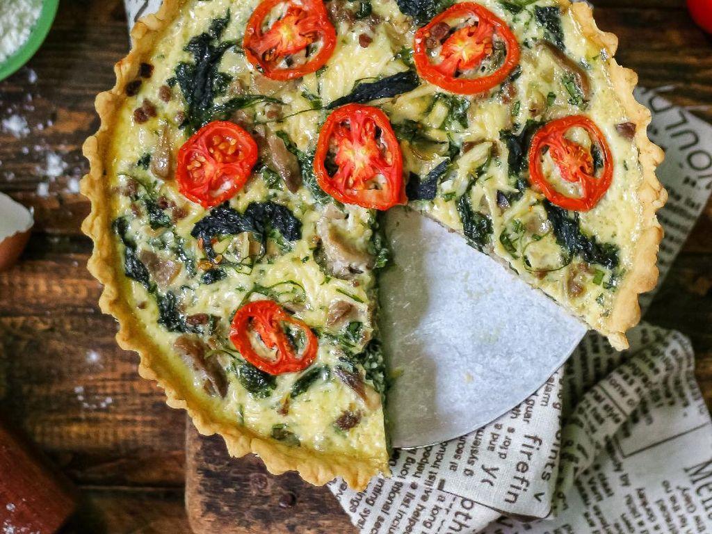Resep Pembaca : Quiche Bayam dan Jamur yang Gurih Padat Nutrisi