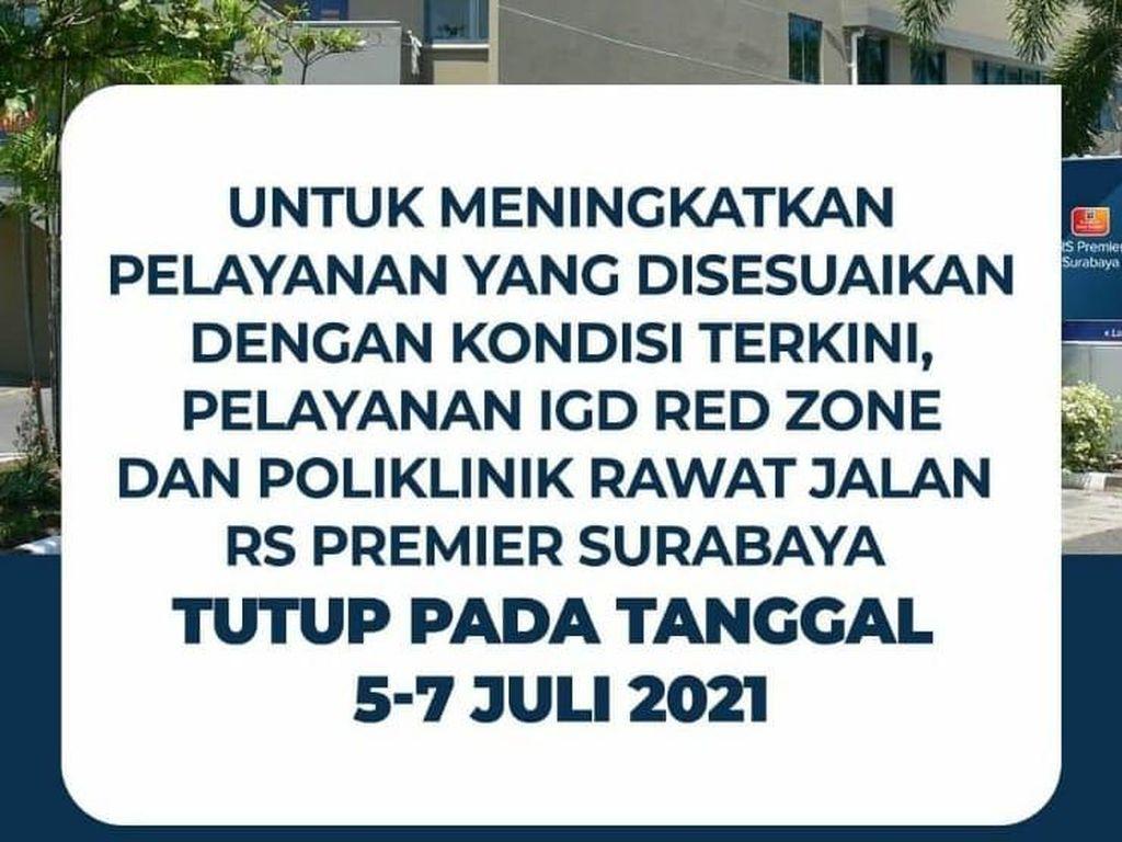 Kasus COVID-19 Terus Melonjak, 11 Rumah Sakit Swasta Surabaya Lockdown