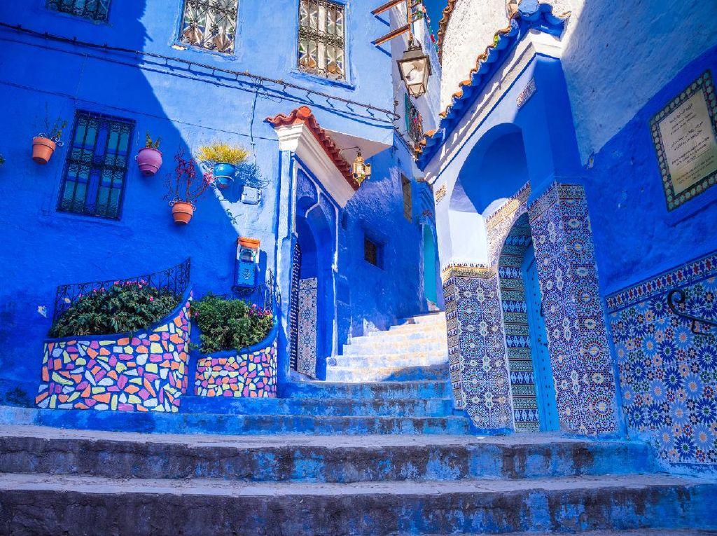 Potret Kota Biru Negeri Dongeng Maroko, Chefchaouen