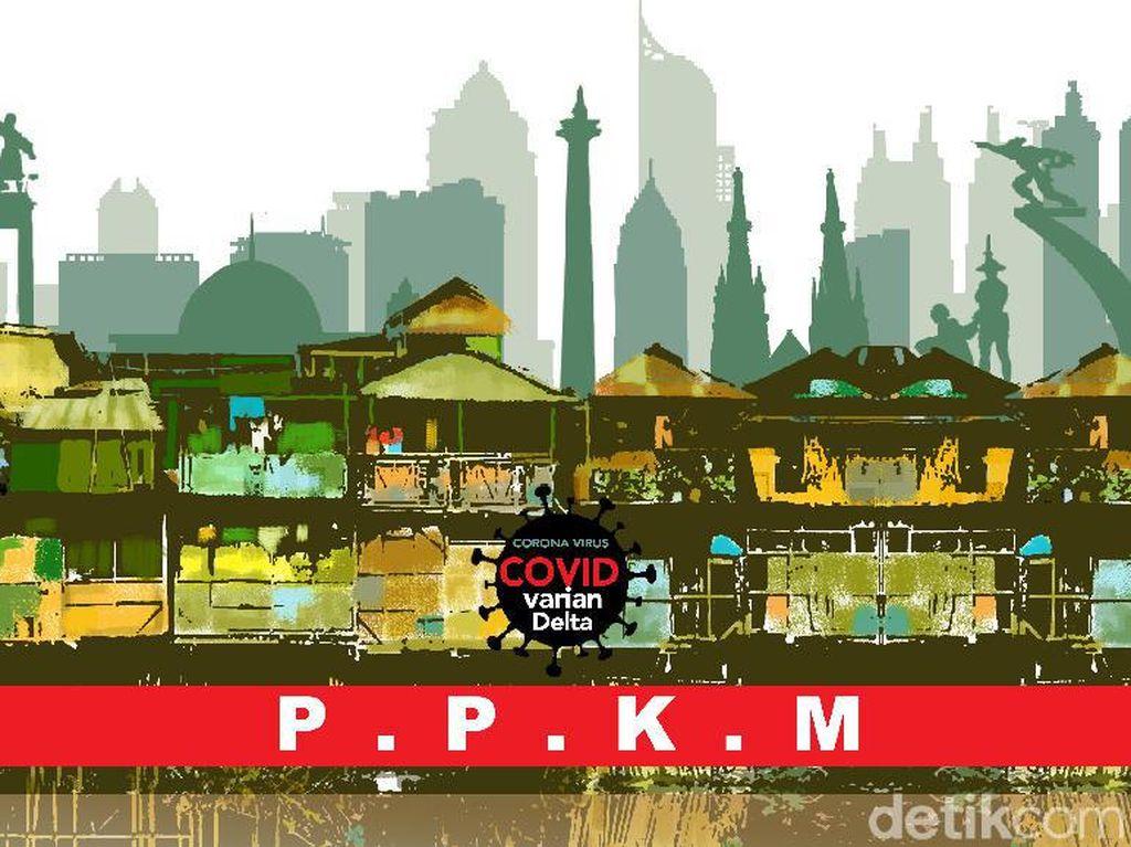 Lengkap! Ini 34 Kabupaten/Kota yang Terapkan PPKM Level 4