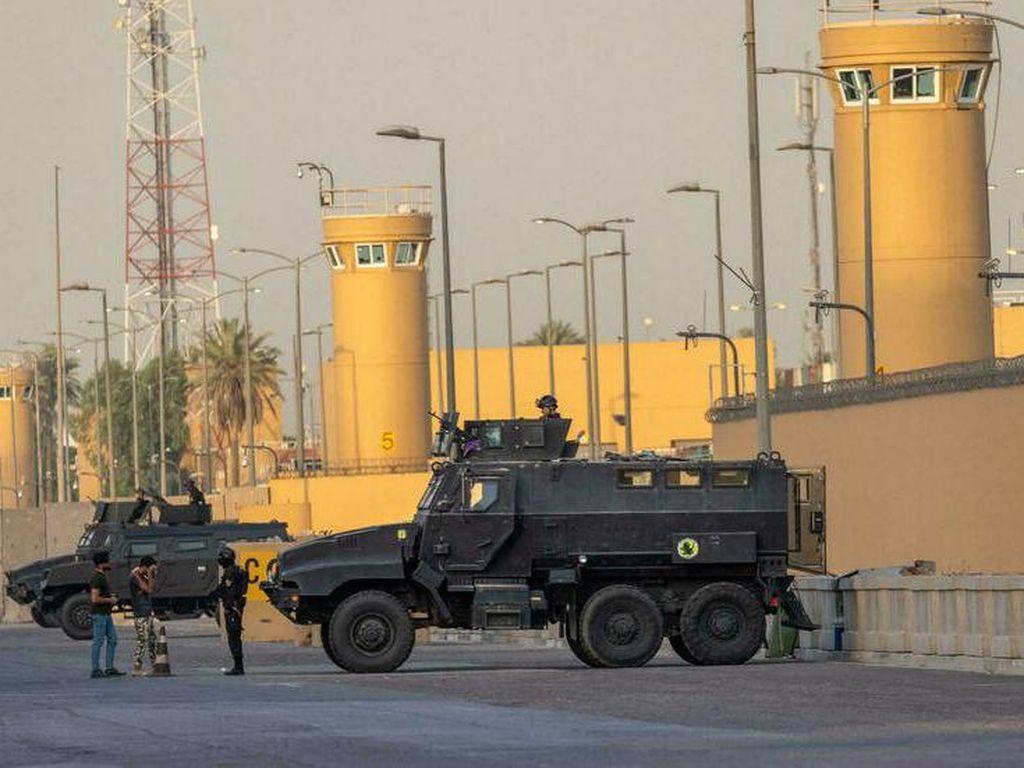 2 Roket Ditembakkan ke Dekat Kedutaan Besar AS di Baghdad