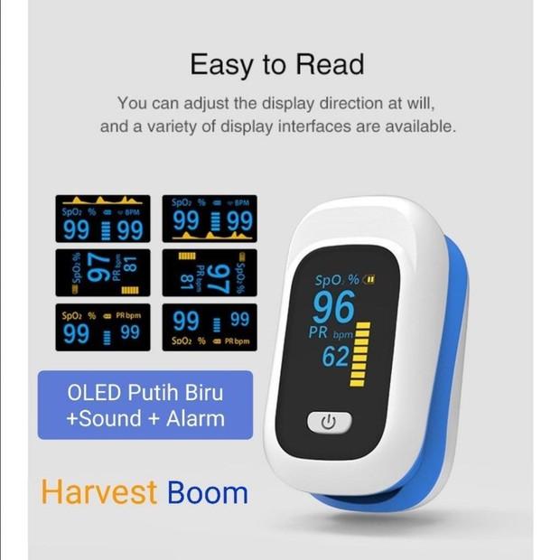 Oximeter yang diklaim telah memenuhi standar CE dan FDA dan sering digunakan para dokter.