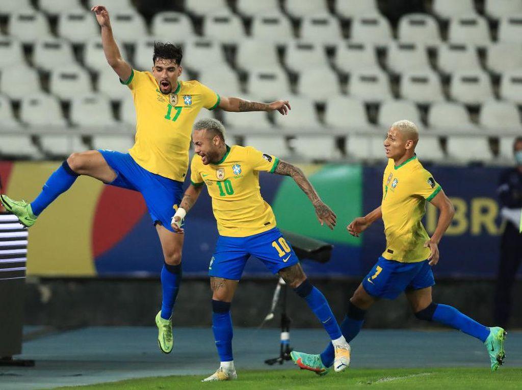 Brasil Lewati Perjuangan Keras untuk ke Final Copa America 2021