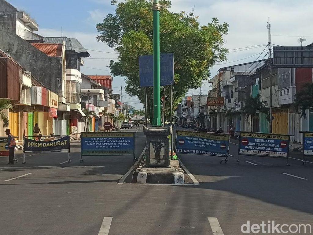 Catat Lur! Jalan Menuju Demak Kota Tutup Selama PPKM Darurat