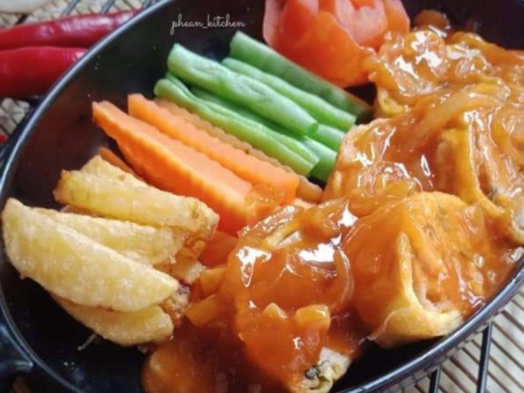 Resep Pembaca: Rolade Sayur Saus Asam Manis yang Segar