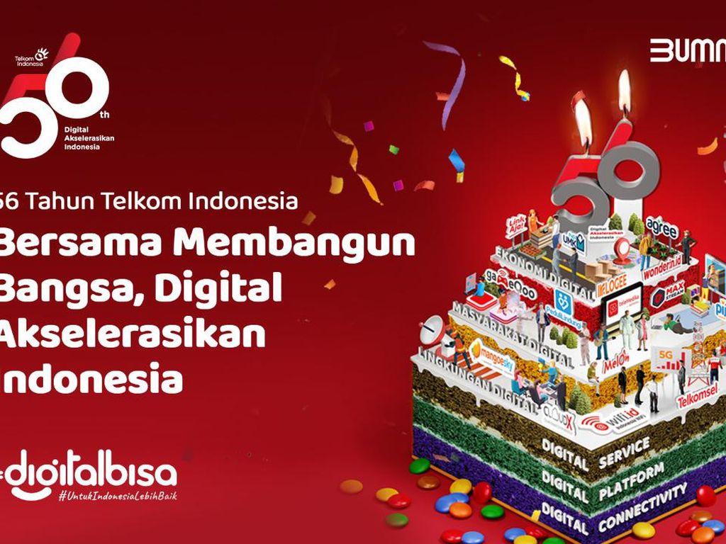 Genap 56 Tahun, Telkom Komitmen Wujudkan Kedaulatan Digital Indonesia