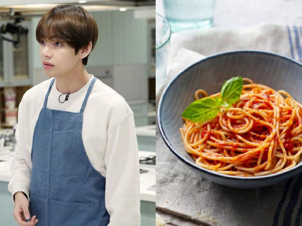 V BTS Pernah Gagal Bikin Spaghetti, Ngaku Tak Mau Masak Lagi!