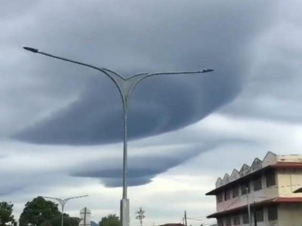 Viral Awan Berbentuk UFO di Banda Aceh, Begini Penjelasan BMKG