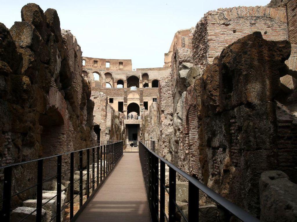 Pertama Kalinya, Lantai Bawah Tanah Colosseum Terbuka untuk Turis