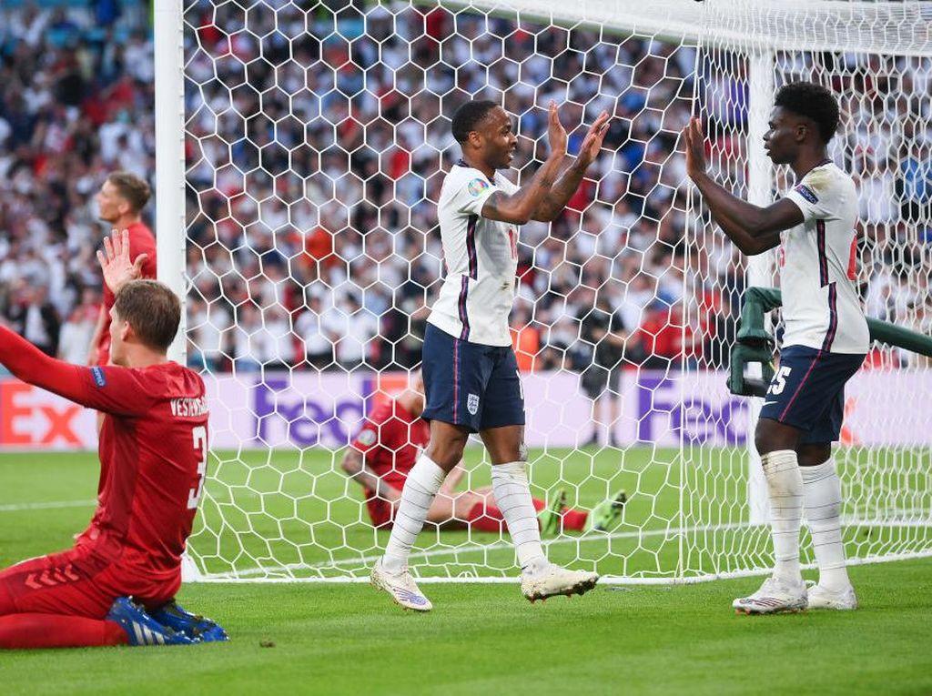 Inggris Vs Denmark Imbang 1-1 di Babak Pertama