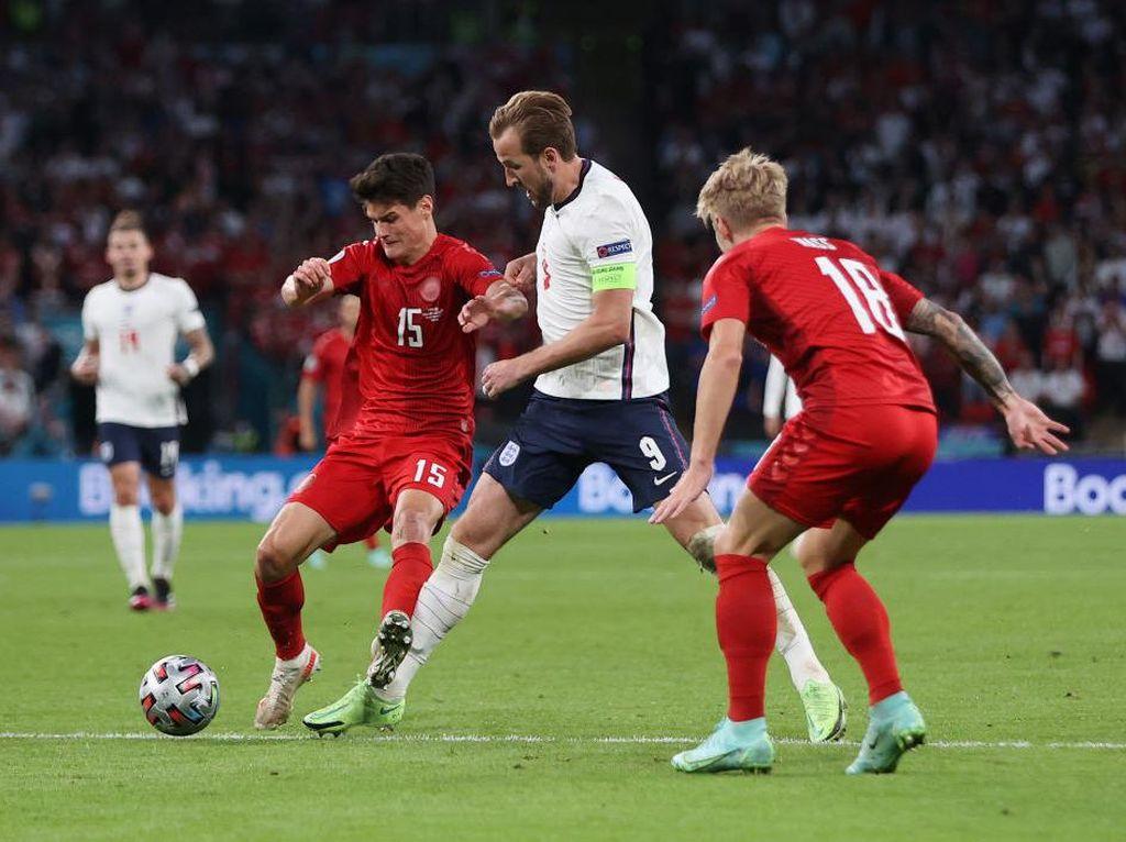 Inggris Vs Denmark: Tetap Imbang 1-1, Duel ke Perpanjangan Waktu