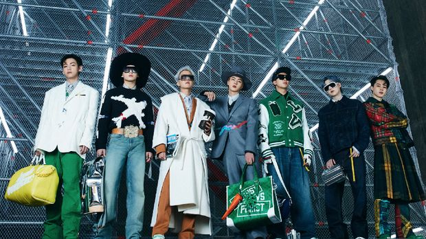 BTS Pamerkan Koleksi Terbaru Louis Vuitton. (Arsip Louis Vuitton)
