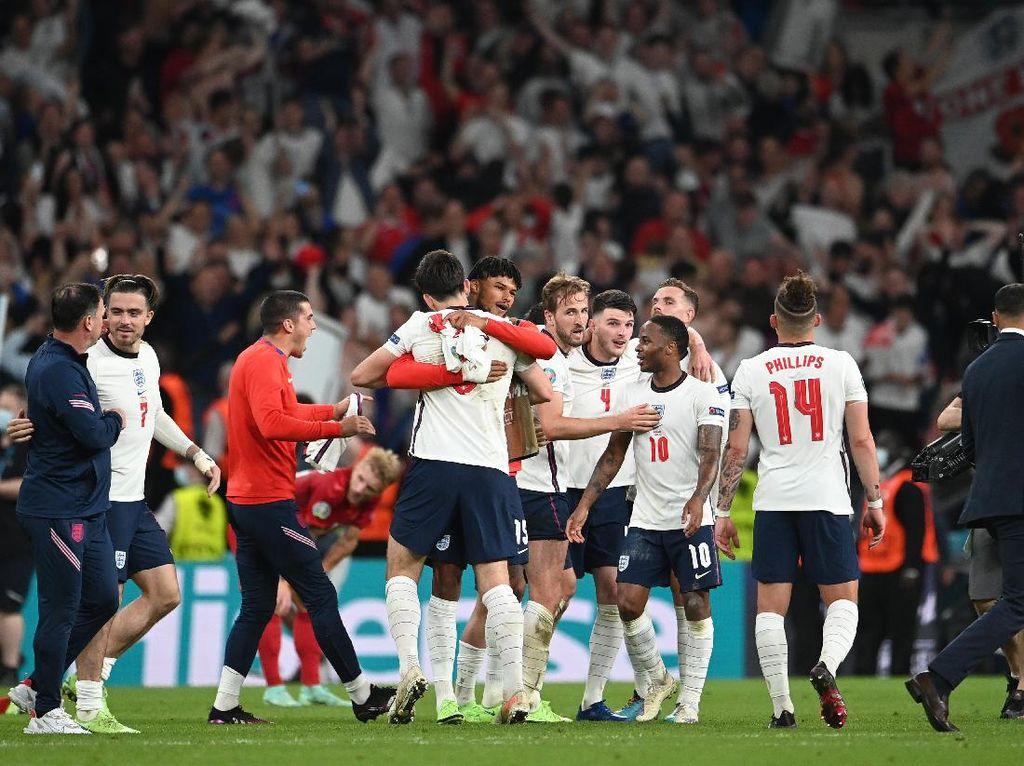 Euro 2020: Inggris ke Final Piala Eropa untuk Pertama Kali