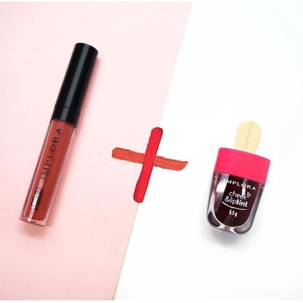 Implora Lip Cream 01 dan Lip Tint Vampire Bold