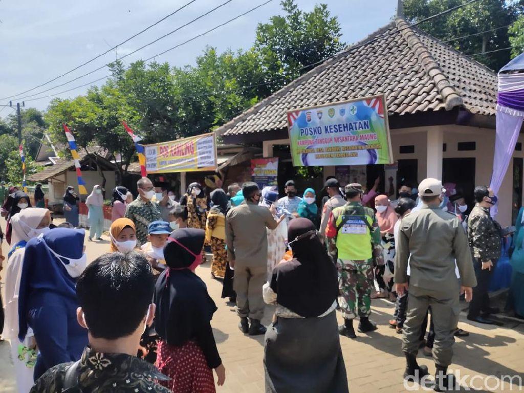 Duh, Peresmian Kampung Tangguh di Pandeglang Timbulkan Kerumunan