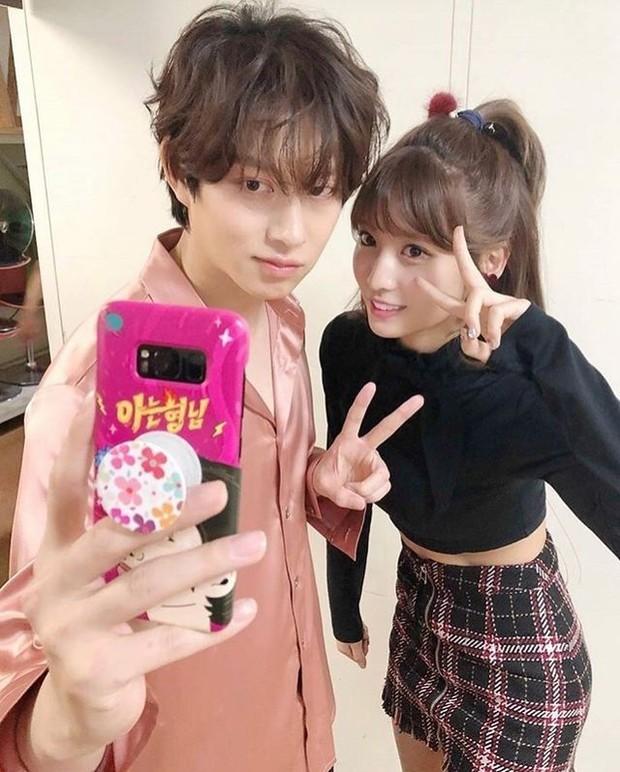 Potret Heechul Super Junior dan Momo Twice (foto: instagram.com/mochul_couple)