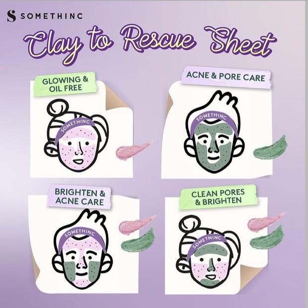 Kombinasi masker Skin Goals dan Mugwortella Charcoal.