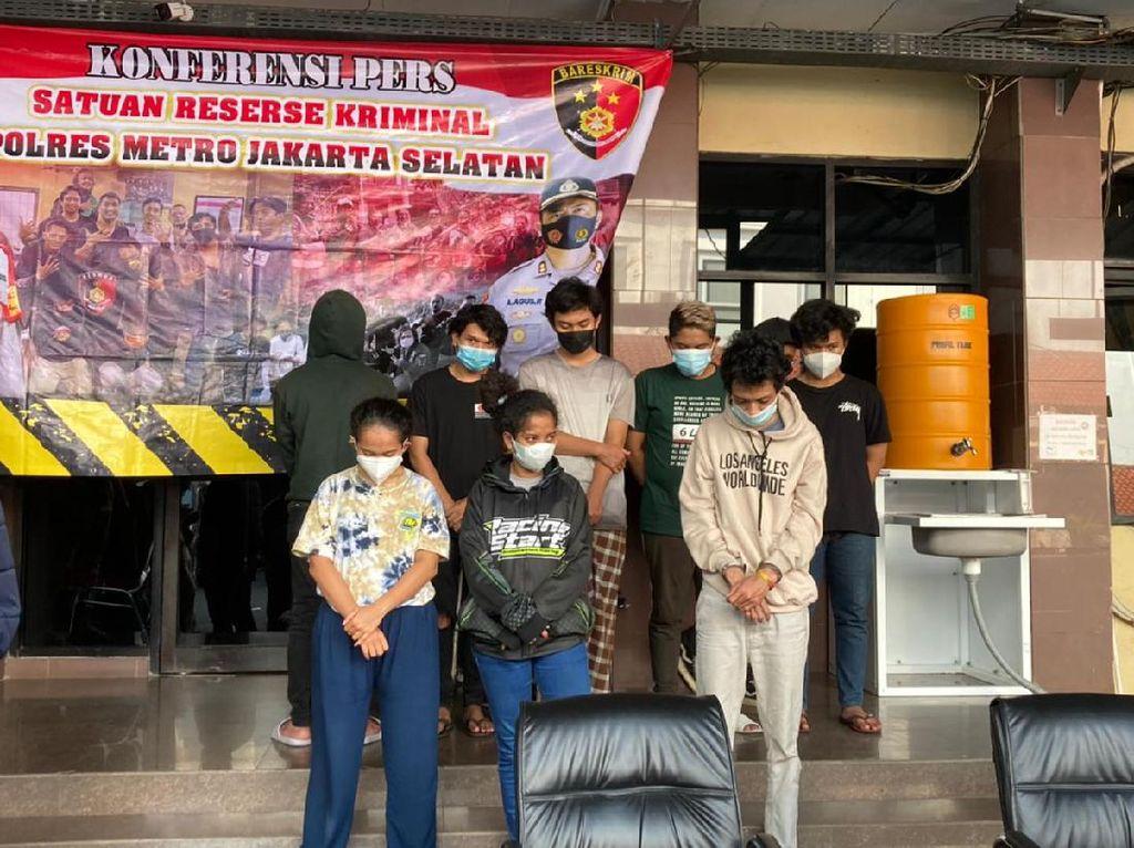 Polres Jaksel Ungkap Peran 2 Angels Geng Motor di Penyerangan Polisi