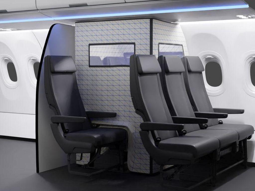 Airbus Desain Tenda Karantina Covid-19 buat Kabin Pesawat