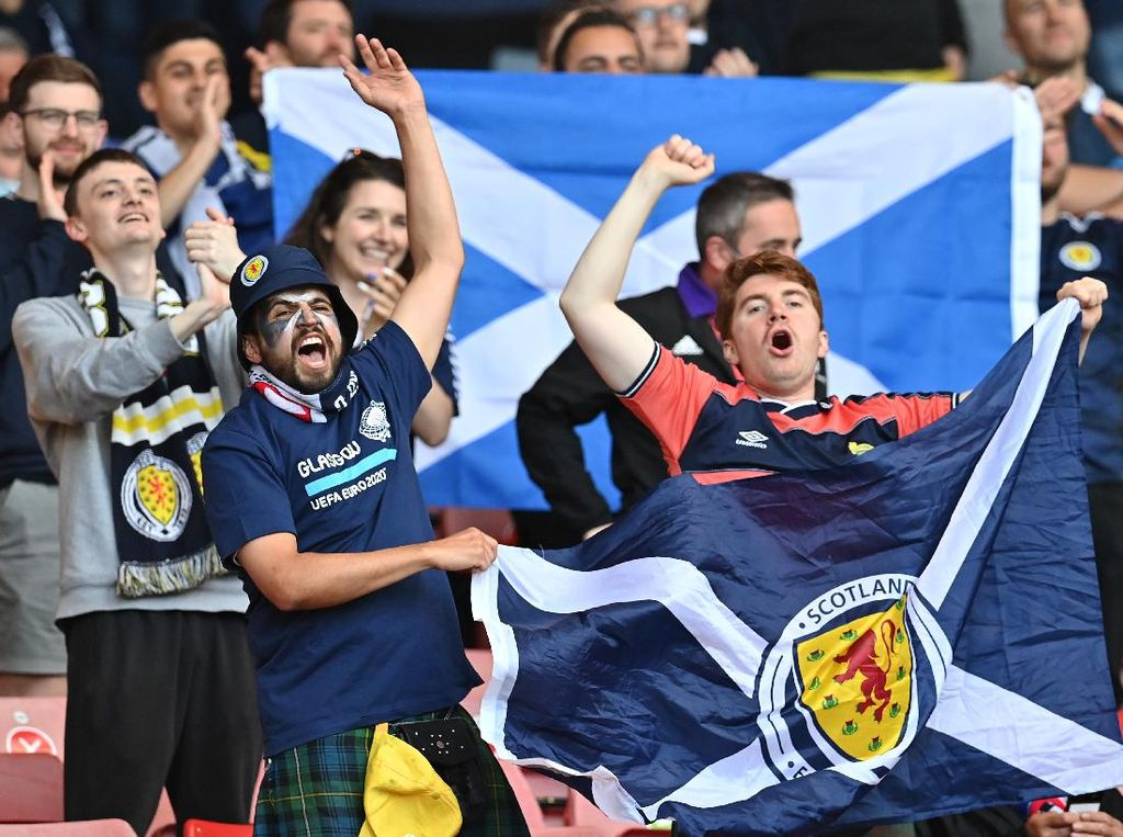 Wow! Italia Bakal Didukung Fans Skotlandia di Final Euro 2020