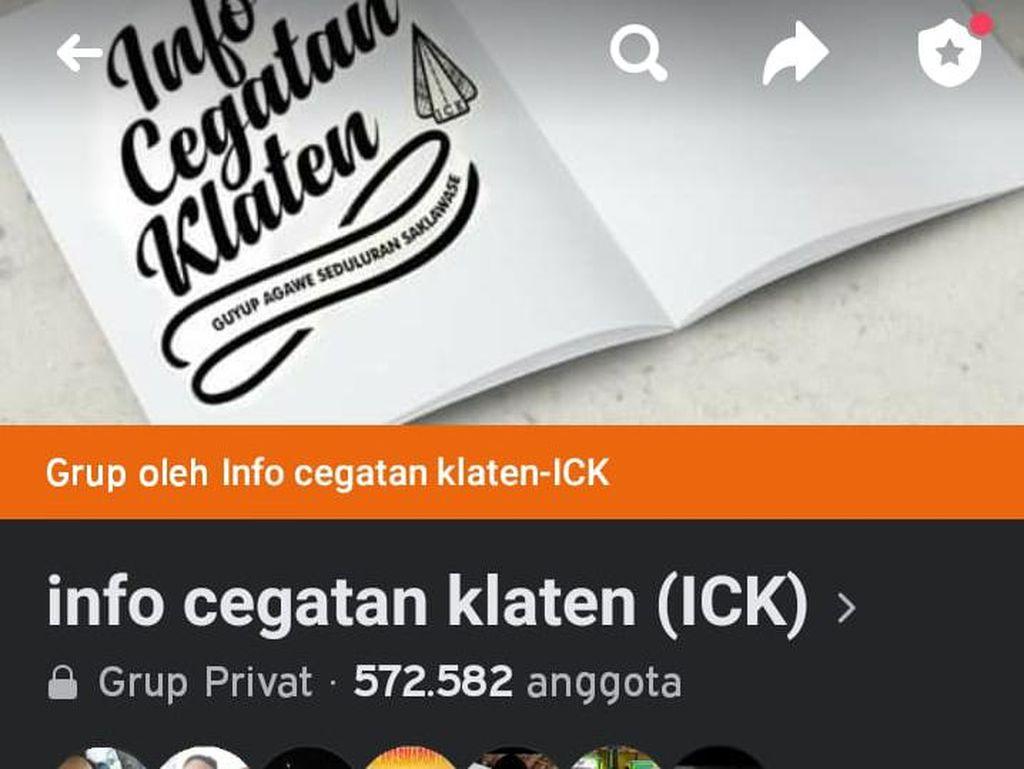 Grup Facebook ICK Klaten Beranggota Setengah Juta Orang Lenyap