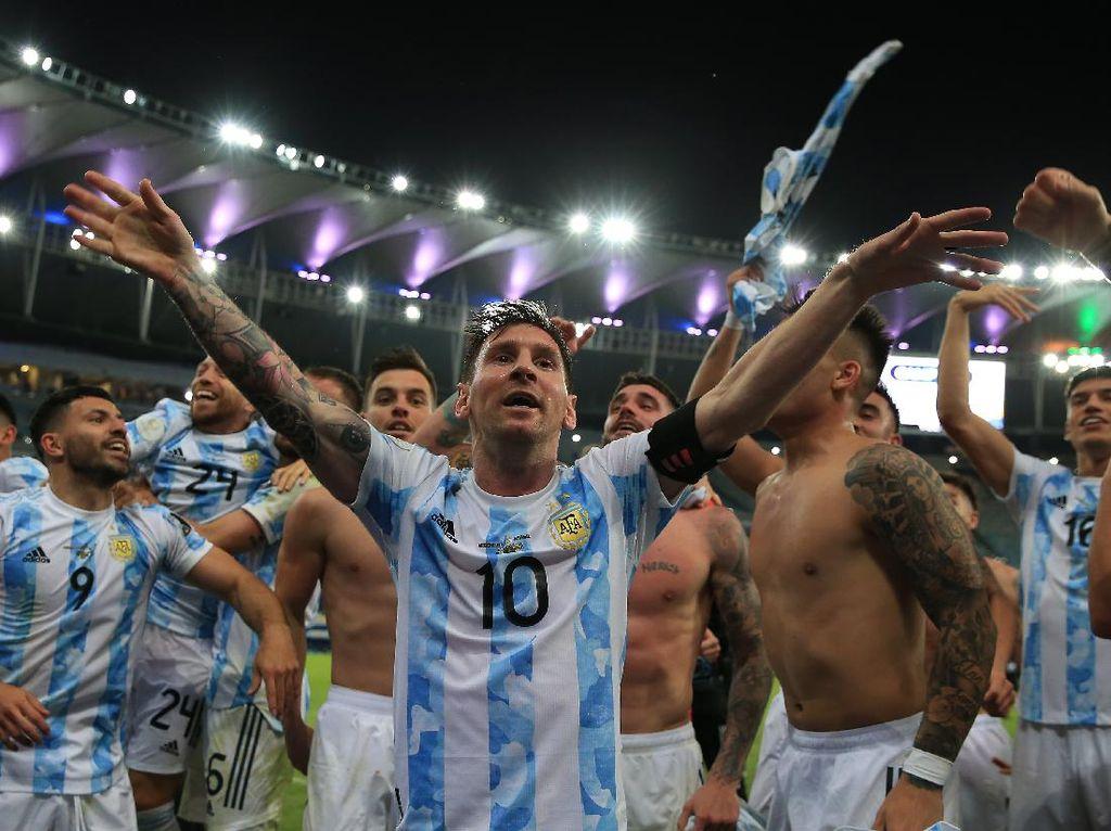 Argentina dan Messi Juara Copa America, Netizen Gegap Gempita