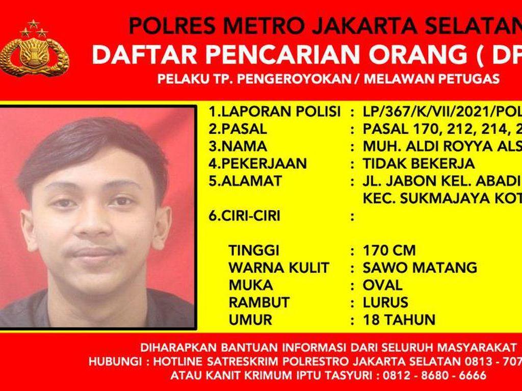 1 DPO Penyerang Polisi di Cilandak Jaksel Diburu, Ini Tampangnya