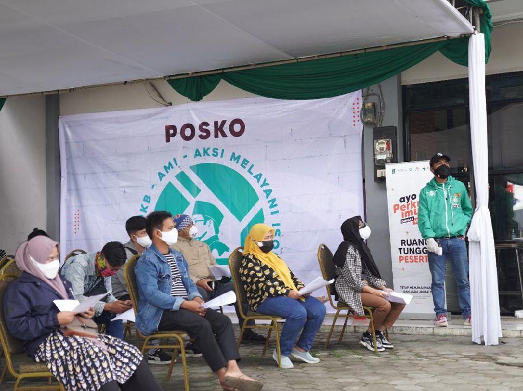 Tinggi Peminat, Vaksinasi Gratis di DPW PKB Jabar Dilanjutkan