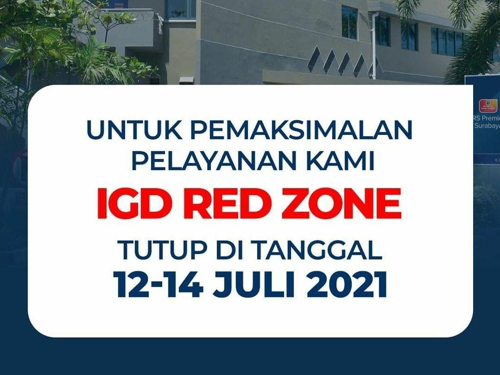 5 IGD RS di Surabaya Berlakukan Sistem Buka Tutup Usai Lockdown