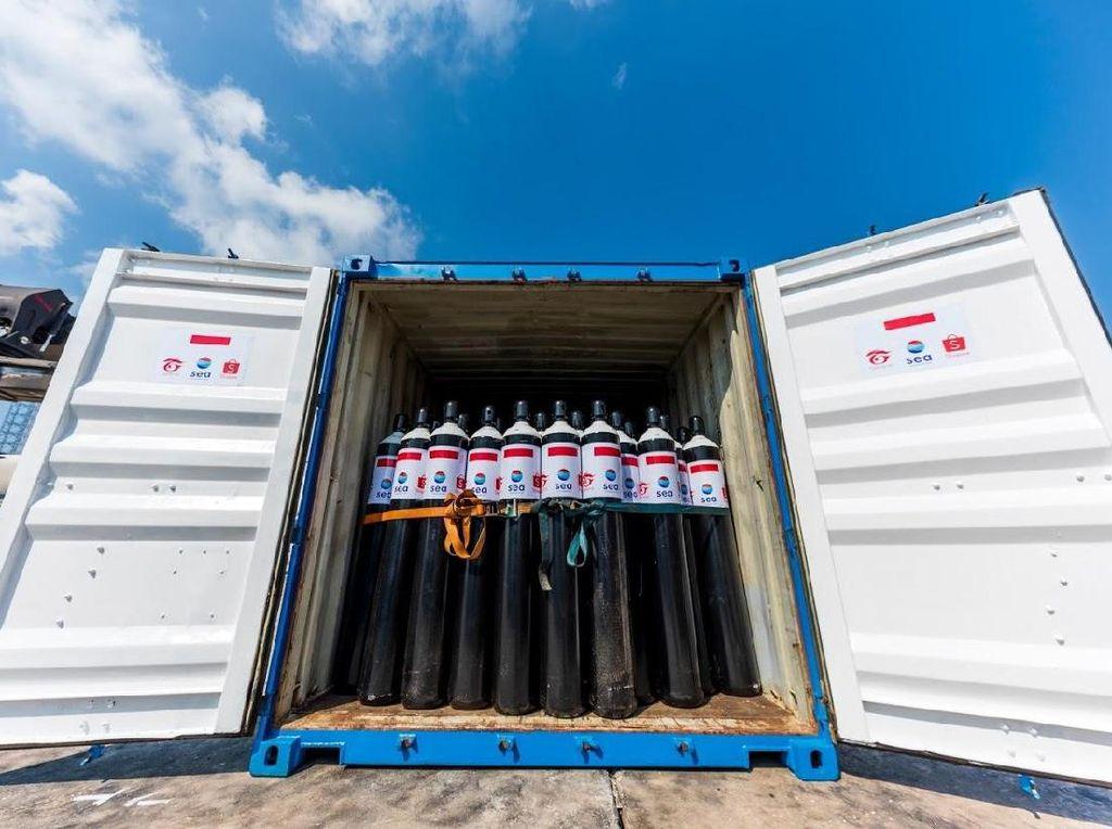Sea Group, Shopee dan Garena Sumbang 1.000 Tabung Oksigen