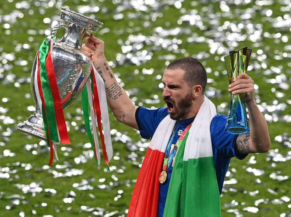 Bonucci Termotivasi Ejekan Suporter Inggris ke Lagu Kebangsaan Italia
