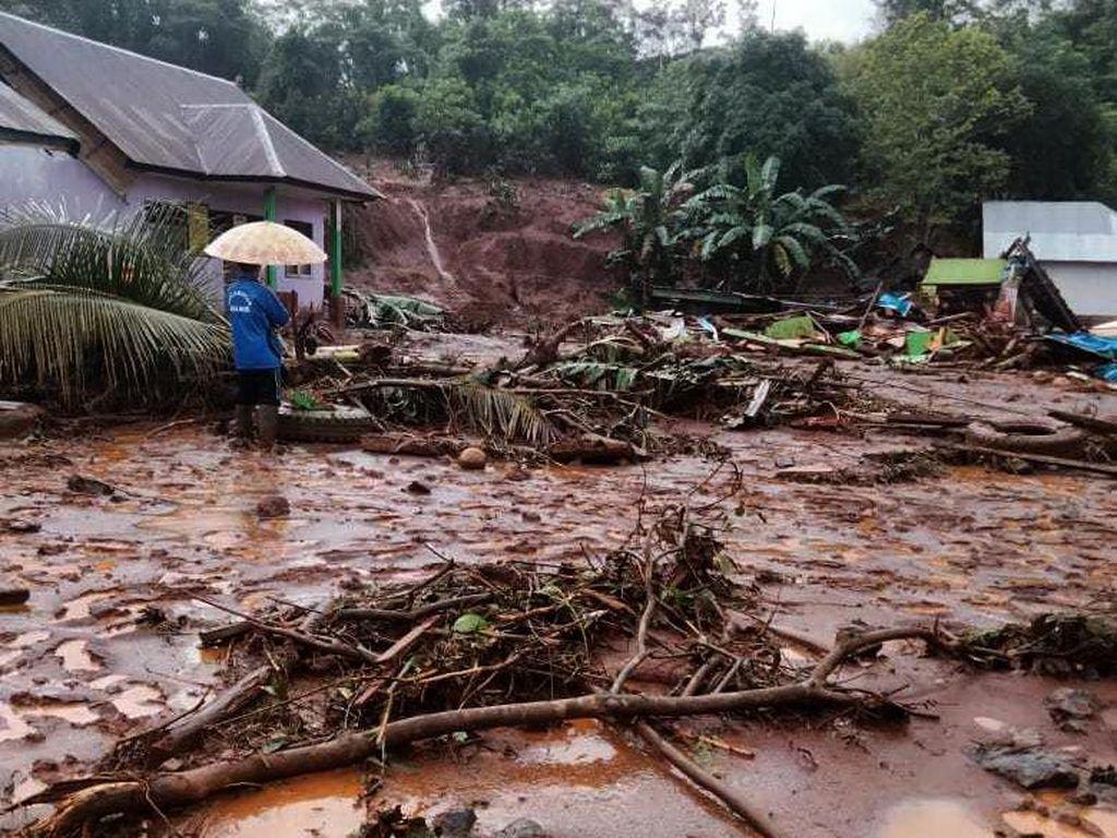 Banjir Bandang Terjang 4 Desa dari 3 Kecamatan di Konawe Utara Sultra